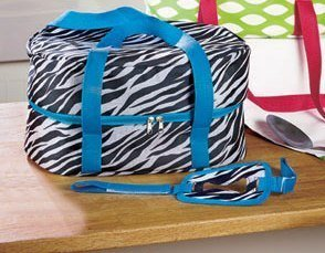 Zebra Sturdy Slow Cooker Carrier Tote Fits up to 6 Quarts 15
