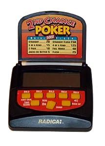 Radica: 2nd Chance Poker, Electronic Haldheld Lcd Game, Model 2104, Royal Flush 5000