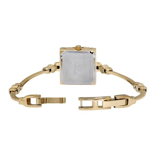 AK Anne Klein Women's Goldtone Covered Dial Mesh Bracelet Watch