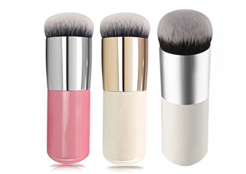 3Pcs 3Colors Flat Liquid Foundation Makeup Brushes Blush Buffer Powder Make up Brushes Beauty BB Cream Kabuki Contour Brush Tool (Wet And Wild Bb Cream compare prices)