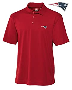 New England Patriots Mens Drytec Genre Polo Cardinal Red by Cutter & Buck