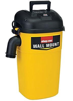Shop-Vac 3942300 5 gallon 4.0 Peak HP Wall Mount Wet/Dry Vacuum, Yellow/Black