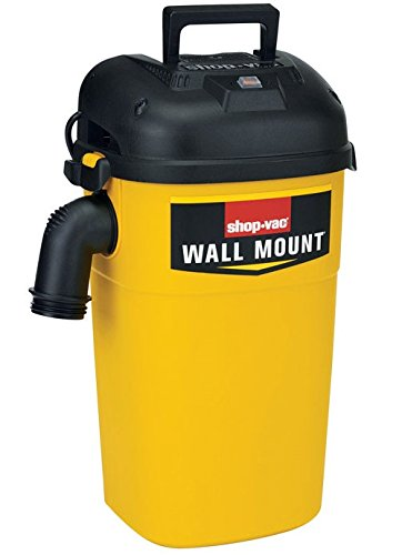 Shop-Vac 3942300 5 gallon 4.0 Peak HP Wall Mount Wet/Dry Vacuum, Yellow/Black (Shop Vac Hose Storage compare prices)