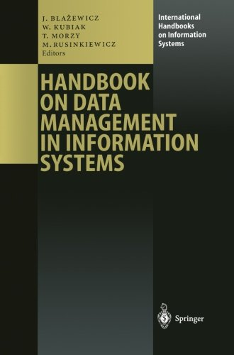 Handbook on Data Management in Information Systems (International Handbooks on Information Systems)