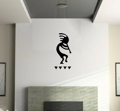 Wall Pattern Decal Matte Black Kokopelli Art Decor Petro Glyph Symbol Sticker Southwest Design front-1018208