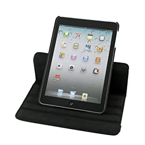 Evecase® Rotating Stand Leather Case for New Apple iPad Mini 7.85 inch / the iPad Mini 7 Inch / built-in Stand for Apple iPad Mini 7.85 inch , Apple iPad 4 (2012 Latest Generation) -- Black