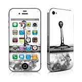 Silver Drop Design Protective Skin Decal Sticker for Apple iPhone 4 16GB 32GB