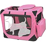 Pet Gear Generation II Deluxe Portable Soft Crate for cats and dogs up to 30-pounds, Pink