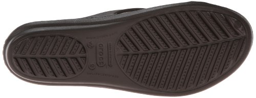 Crocs Womens Women's Sanrah Circle Dress Sandal,Espresso/Walnut,7 M US