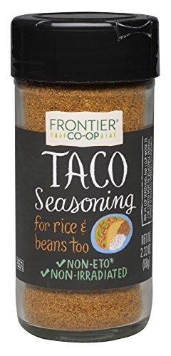 Frontier Taco Seasoning, Salt-Free Blend, 2.33-Ounce Bottles (Pack of 3)