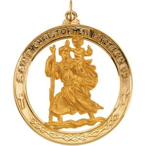 14 Kt Saint Christopher Medal Gold