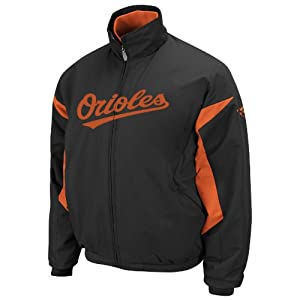 MLB Baltimore Orioles Long Sleeve Lightweight Full Zip Thermabase Premier Jacket,... by Majestic