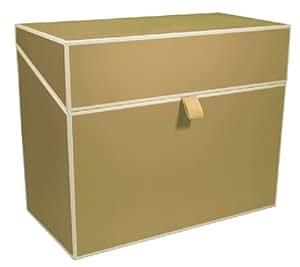 bo te fichier a4 classement personnel chamois bo tes de rangement qualit originale. Black Bedroom Furniture Sets. Home Design Ideas