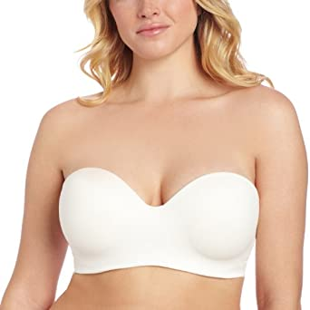 Carnival Womens Full Figured Seamless Molded Strapless Bra, Ivory, 32C