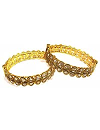 Shingar Jewellery Ksvk Jewels Antique Gold Plated Bangles Set For Women (9275-m-so-p)