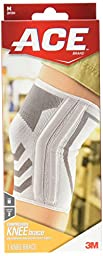 ACE Knitted Knee Brace with Side Stabilizers, Medium (Packaging and design may vary)
