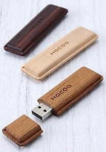 Hacoa 木製USBメモリー モナカ チーク H902-T8G