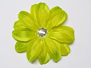 "Lime Green 5"" Large Tropical Lily Flower Hair Clip Hair Accessories For All Ages"