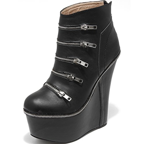 1197H tronchetti donna JEFFREY CAMPBELL dennon zeppa scarpe ankle boots women [38]