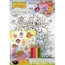 Moshi Monsters: Colouring Set (A4 Colouring Posters, Pencils and Sticker Set)