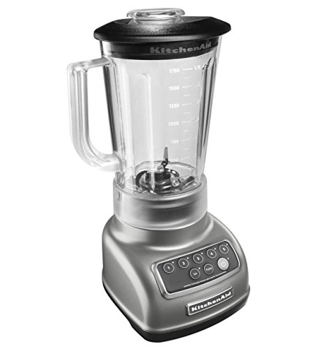 KitchenAid RKSB1570CU 5-Speed Blender with 56-Ounce BPA-Free Pitcher - Silver (Certified Refurbished) (Kitchen Aid 56 Oz Pitcher compare prices)