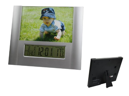Digital Innen Thermometer mit Analog Bilderrahmen . Innenthermometer mit Datum , Uhr , Wecker und Alarm Anzeige