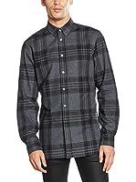 Belstaff Camisa Hombre Everett (Gris / Negro)