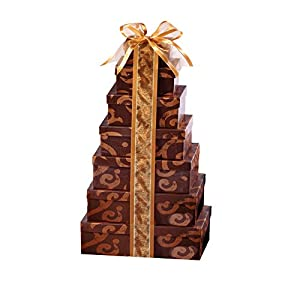 Broadway Basketeers Thinking of You Holiday Christmas Gift Tower (Kosher)