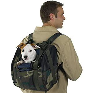 Camo Backpack Dog Carrier-for Dogs up to 16 Pounds