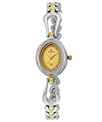 Maxima Analog Gold Dial Womens Watch - 25610BMLT