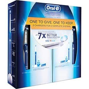Oral-B Professional Care Advantage Rechargeable Toothbrush Kit , Includes: 2 Chargers, 2 Handles, 2 Brush Heads