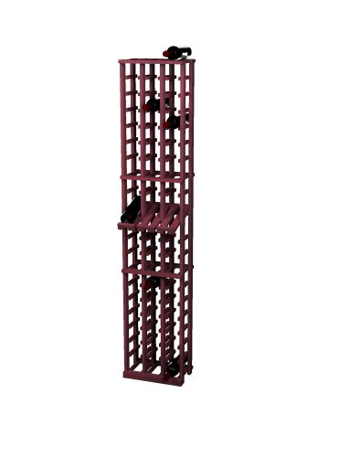 Wine Cellar Innovations Rustic Pine Wine Rack With Display Row For 60 Wine Bottles, 3 Column, Classic Mahogany Stained front-537946