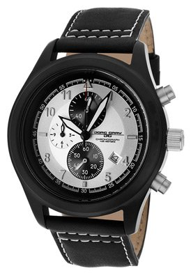 Jorg Gray JG4530 Men's Black IP White Dial Chronograph Watch