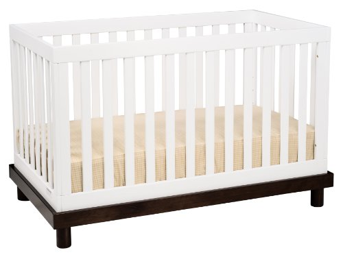Baby Mod Olivia 3 in 1 Convertible Crib, Two Tone
