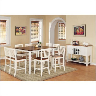 Branson Counter Height Dining Table in White and Oak