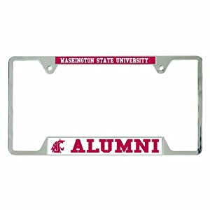 NCAA Washington State Cougars Metal License Plate Frame