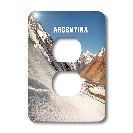 Lsp_80650_6 Florene Worlds Exotic Spots - Snow On The Argentina Andies - Light Switch Covers - 2 Plug Outlet Cover