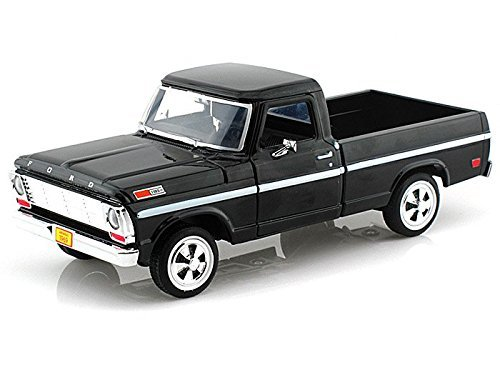 Showcasts Collectibles 1969 Ford F-100 Pickup Truck 1/24 Scale Diecast Model Car Black (Collectible Model Cars compare prices)
