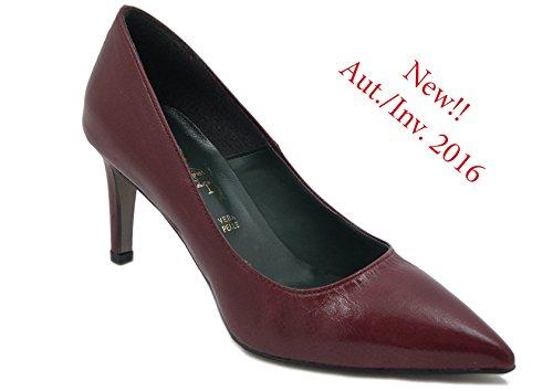 Mercante di Fiori Decollete in Ecopelle, scarpa con tacco 7,5cm. e suola in gomma antiscivolo, TT1380-i16