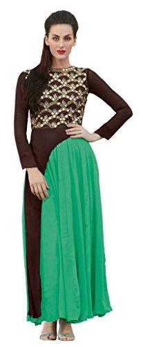 Heart & Soul Designer Wedding & Party Wear Fully Stitched Embroidery Designer Salwar Suits Dupatta L size for women(Grey)