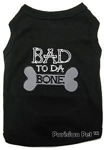 Parisian Pet Bad to Da Bone Dog T-Shirt, XX-Small