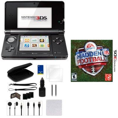 Nintendo 3DS Madden NFL Football Bundle - Black