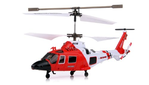 Coast Guard Rescue RC 35CH Gyro Helicopter Mini Infrared Remote Controlled SYMA Heli S111G