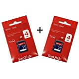 Genuine SanDisk SDHC Card 4GB Twin pack (2 pieces) in retail package, ideal for: Fujifilm FinePix L55, S2950, HS20EXR, HS30EXR, S400, S2980, L23, L55, F550, X10, X100, XS-1, F500, JX370, XP30, AV200, Z70, JX530, Z90, AX350, W3, S4200, SL240, F300, Z300,