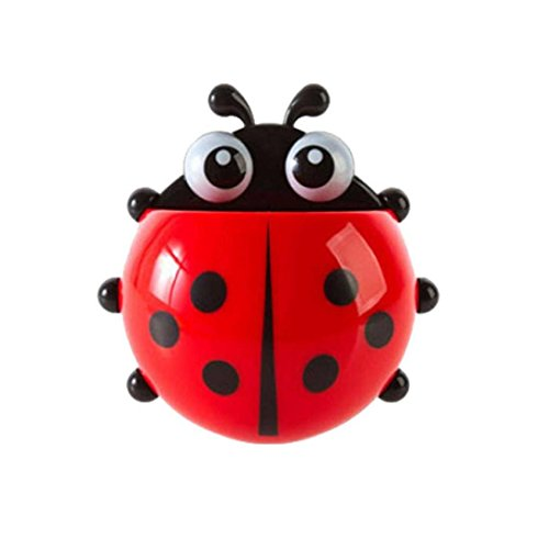 Toothbrush Holder, Franterd Sucker Ladybug Bathroom Toothpaste Stand Set (Multi Soap Cutter compare prices)