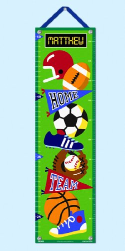 Olive Kids Personalized Game On Canvas Growth Chart