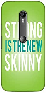 Snoogg Strong Is The New Skinny Designer Protective Back Case Cover For Motor...