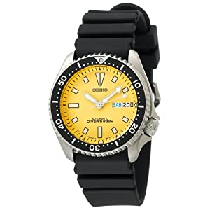Click to buy Seiko Watches for Men: SKXA35 Automatic Dive Urethane Strap Watch from Amazon!
