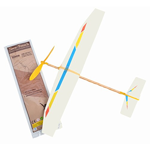 Sky Blue Flight Sky Touch Rubber Band Powered Glider Model Kit