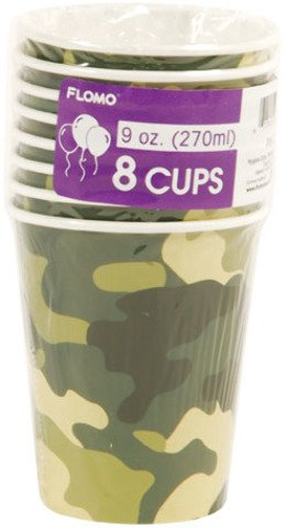 Camo Patterned Printed Cups (Sold by 1 pack of 36 items) PROD-ID : 1883069